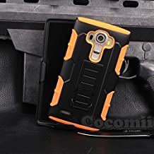 LG G4 Case, Cocomii Robot Armor NEW [Heavy Duty] Premium Belt Clip Holster Kickstand Shockproof Hard Bumper Shell [Military Defender] Full Body Dual Layer Rugged Cover (Orange)
