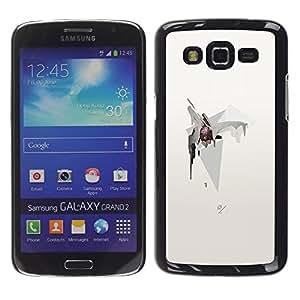 GOODTHINGS Funda Imagen Diseño Carcasa Tapa Trasera Negro Cover Skin Case para Samsung Galaxy Grand 2 SM-G7102 SM-G7105 - universo abstracto protagoniza polígono cono