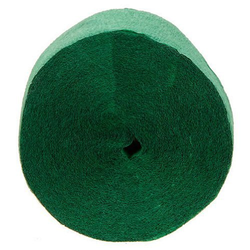 Green Crepe Streamer (1 roll - 81 ft. long, x 1.75in. wide)