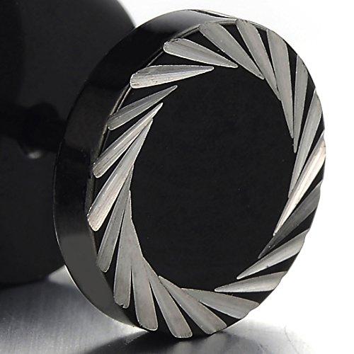 8mm schwarze ohrstecker herren ohrringe edelstahl. Black Bedroom Furniture Sets. Home Design Ideas