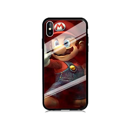 wholesale dealer 21338 8b563 Amazon.com: GSPSTORE iPhone X (TPU + Glass) Fashionable Shockproof ...
