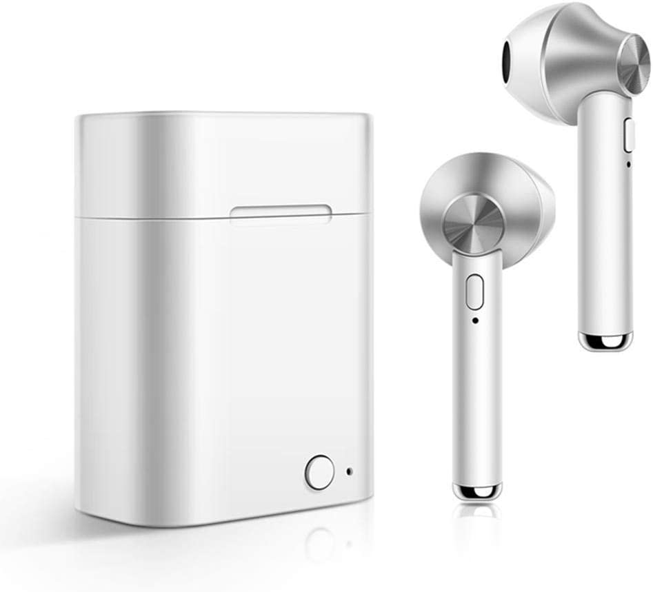 cokil Bluetooth Wireless Music Earphones Headset Earbuds with Charger Box Headphones