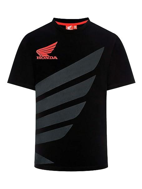 es Camiseta Honda Bicolor Hrc Racing Ala SAmazon Negro QtrdxshC