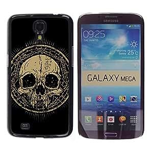 Caucho caso de Shell duro de la cubierta de accesorios de protección BY RAYDREAMMM - Samsung Galaxy Mega 6.3 - Design Grunge Ancient Skull