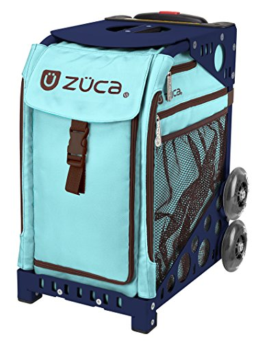 Zuca Calypso Sport Insert Bag and Navy Blue Frame with Flashing Wheels by ZUCA