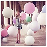 Douqu 10 Pcs 27 Inches Round Balloons Super Big Balloons Large Balloons 12g Wedding Party Holiday Toys Arrangement