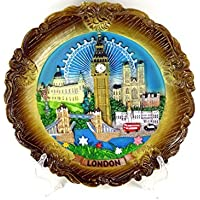 Decorative Plate - Ornate, Detailing London Skyline, 20cm Diameter London Souvenir Plaque - 6178 by Decorative Plates
