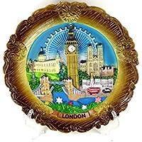 Decorative Plate - Ornate, Detailing London Skyline, 20cm Diameter London Souvenir Plaque - 6178 by Decorative Plates