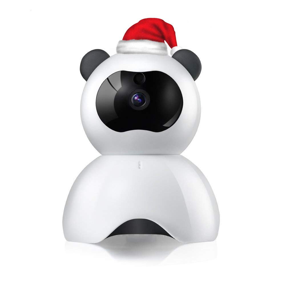 Relee IP WiFi camera 720P HD baby monitor with camera and audio Indoor Wireless Smart Home Security Camera Surveillance Night Vision Camera (white-black)
