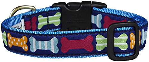 "Up Country Big Bones Dog 1"" Wide Collar - Medium (12-18"")"