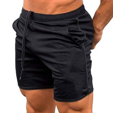 ba0194972f6 Minzhi Summer Men Shorts Calf-Length Fitness Bodybuilding Gyms Joggers  Short Pants Sweatpants Running Trousers  Amazon.co.uk  Clothing