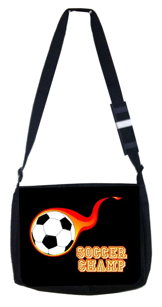 TM Medium Sized Messenger Bag 11.75 x 15.5 and 4.5 x 8.5 Pencil Case SET Soccer champ Rosie Parker Inc