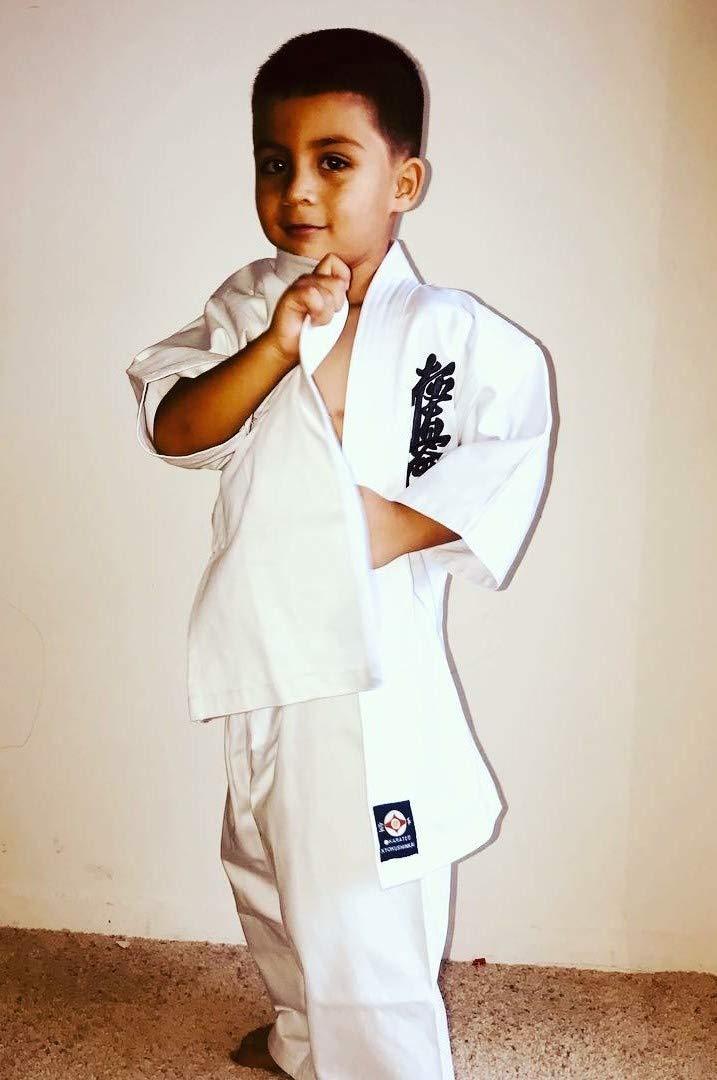 Budo Sports KAI-555 Kyokushinkai 刺繍ユニフォーム フルコンタクト 空手着 B07J1LMW4N  3L