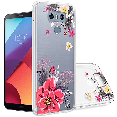 LG G6 Case,Topnow Shockproof Ultrathin Soft Tpu Advanced Printing Pattern Cover Phone Case for LG G6 - Flower Wandering Advanced Pattern