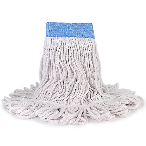 Stitch Bucket (Industrial Grade Winger Mop Head Refill Heavy Duty Loop-End String Mop Refills Super Stitch Blend Large Commerical Mop Heads Replacement (White))