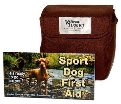 VSI Sport Dog First Aid Kit Heavy Duty Classic Brown Travel Bag