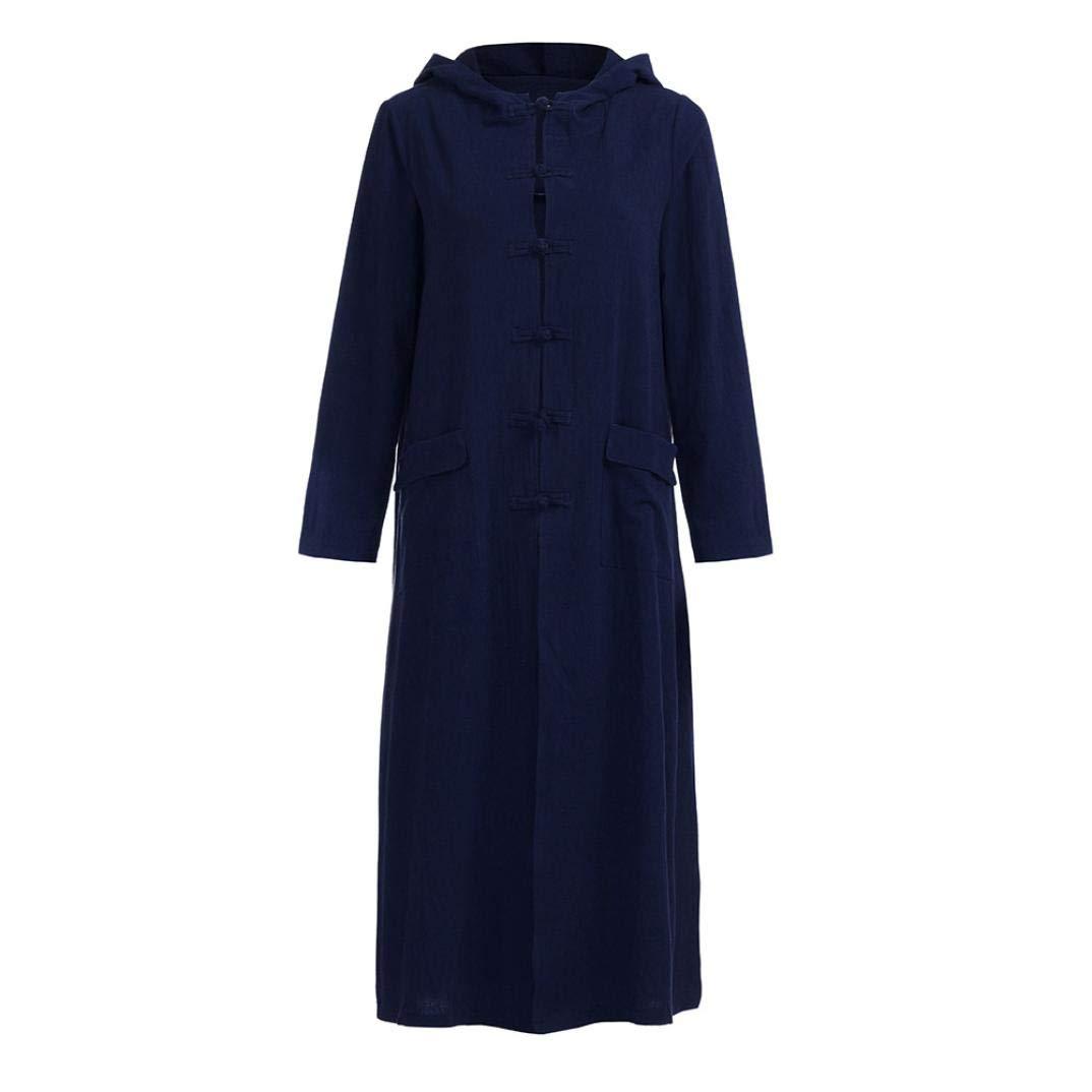 REYO ♥ [S-5XL] Clearance Sale Women's Dresses Hooded Maxi Floor-Length Coat Jacket Dress Long Sleeve Mini Dress