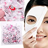 Moradiya Fresh Disposable White Magic Skin Care Fiber Compressed Coin Tablets Cotton Facial Paper (100Pc Compressed Masks)