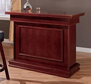 Coaster All in One Game Table/Bar Unit with Wine Shelves includes, Roulette, Blackjack and Craps, Cherry Finish