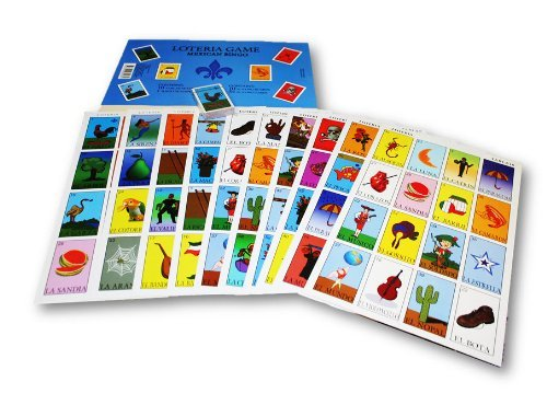 Autentica Loteria Mexican JUMBO Bingo Set 10 Tablets Farbeful and Educational! by El Gallo