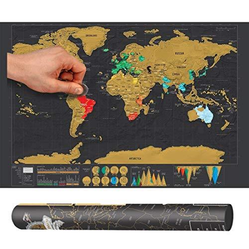 Perfect Home Hermoso Material Escolar: artículos de Oficina, Scratch World Map, decoración Creativa de Muebles, tamaño:...
