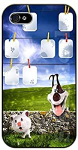 iPhone 6 Case Smiling cartoon dog - black plastic case / dog, animals, dogs