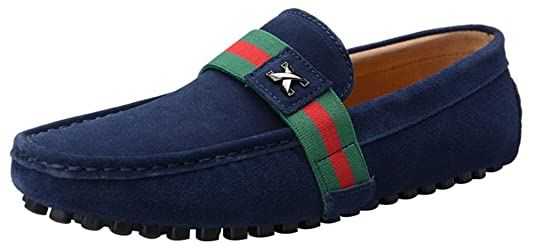 FJQY-0028 New Mens Stylish Casual Loafers Moccasins Leather Motor Driving Shoes