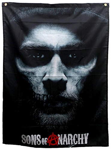 Sons Of Anarchy   Jax Skull Banner Fabric Poster 29 X 38In