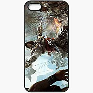 Personalized iPhone 5 5S Cell phone Case/Cover Skin Assassin's Creed 4 Black Flag Games Black