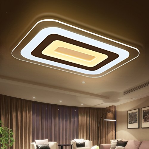 JHTWGJ Modern Simple Ultra - Thin Rectangle LED Acrylic Ceiling ...