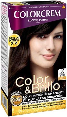 Colorcrem Color & Brillo Tinte Capilar Naturales Intensos Color Castaño Oscuro