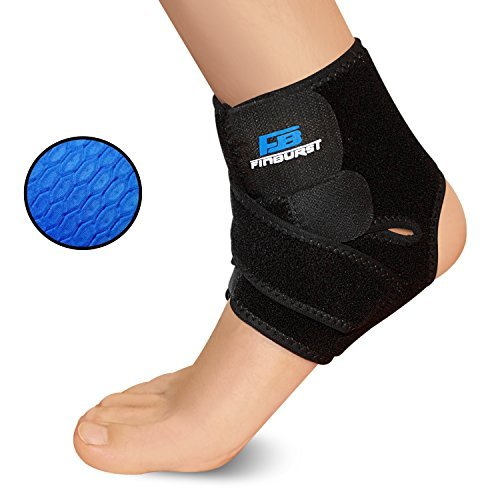 FinBurst Ankle Support Brace – Boost Your Recovery & Confidence – Best for Arthritis, Tendonitis and Sports Sprain Recovery (Black, 1 Piece)