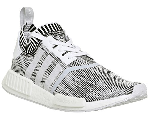 adidas Women's NMD_r1 Primeknit Trainers White White Black BKpIh1