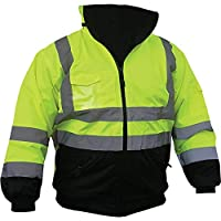 Pyramex RJ3210L Safety Bomber Jacket with Quilted Lining, Green 3