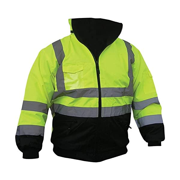 Boston Industrial High Visibility Class III Reflective Jacket Removable Lining Two Tone 1
