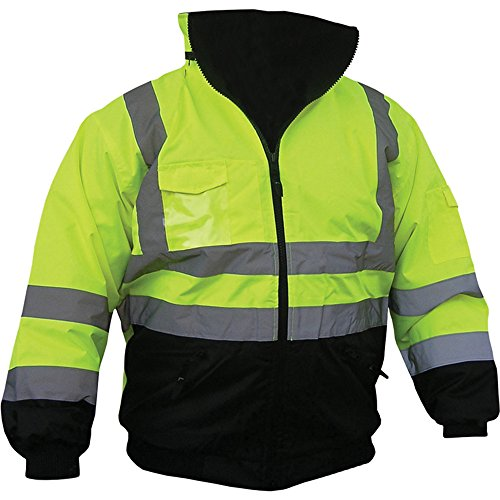 High Visibility Class III Reflective Jacket Removable Lining Two Tone (XLarge)