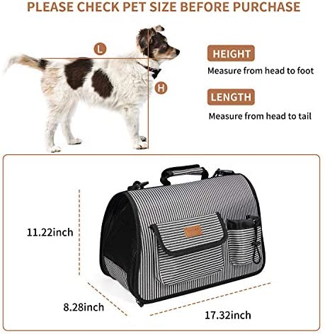 CheerMaker Pet Carrier Cat Carrier Dog Carrier for Small Medium Dogs, Cats, Puppies, Kittens, Pets, Airline Approved Cozy and Soft Foldable Dog Beds, Carry Your Pet with You Safely and Comfortably
