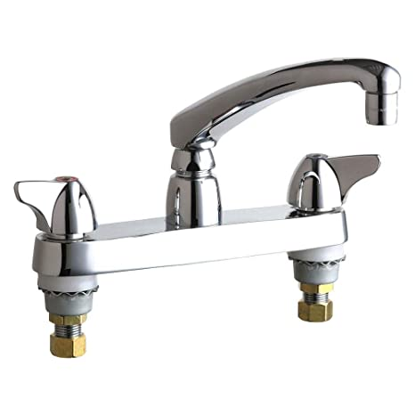 Chicago Faucets 1100-E35ABCP Kitchen Sink Faucet - Touch On ...