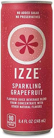 IZZE Sparkling Juice, Grapefruit, 8.4 oz Cans, 24 Count