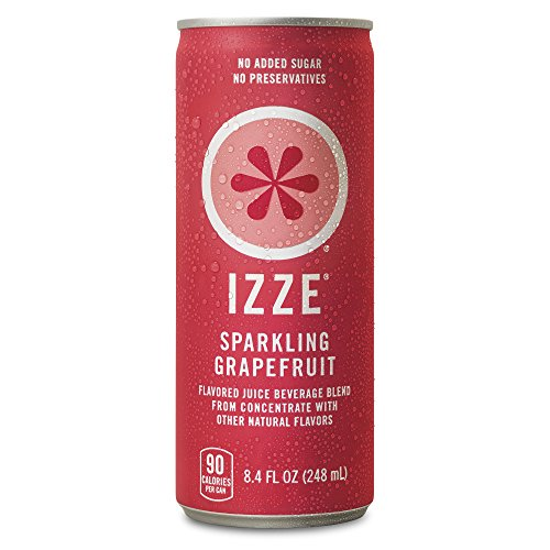 Izze Beverage (IZZE Sparkling Juice, Grapefruit, 8.4 oz Cans, 24 Count)