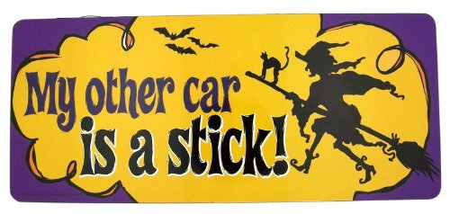 My Other Car is a Stick Witch on Broom 9