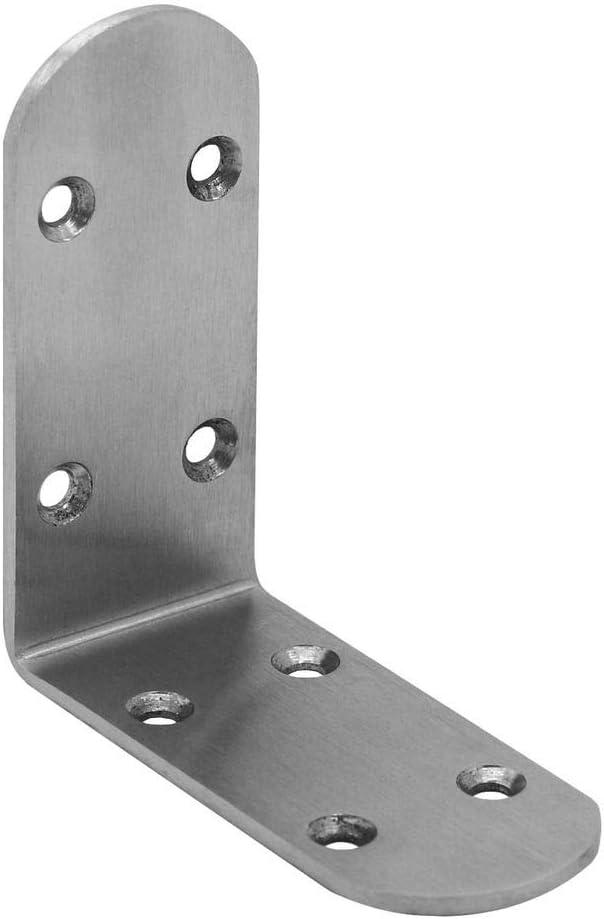 tumundo Corner Brace Plateado Angulo Recto Reparaci/ón Conjunto Perforada Acero Soporte en Forma De L Brace Fijaciones Modelo:10 piezas 65mm x 65mm