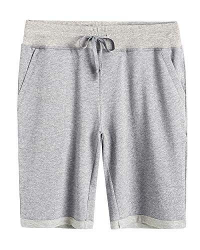 Weintee Women's Cotton Bermuda Shorts with Pockets L Oxford Gray ()