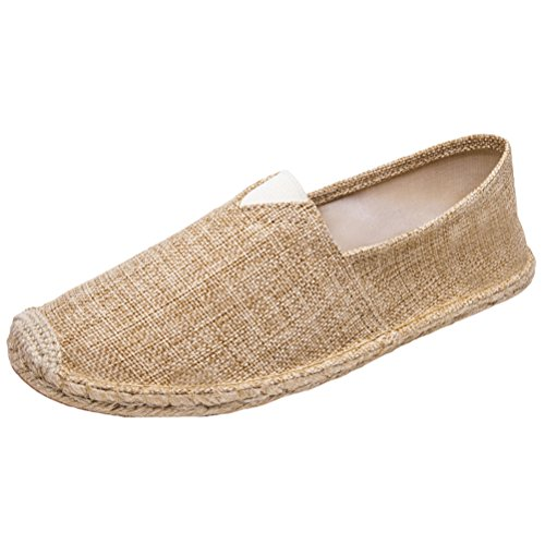 Vogstyle Unisex Breathable Canvas Slip On Espadrille Shoes Sneakers Slip On Flats Style 13-2-Khaki kvp7aS43n
