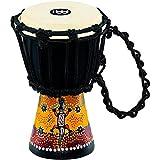 Meinl Percussion HDJ7-XXS Gecko Design Rope Tuned Mahogany Wood 4 1/2-Inch Mini Djembe with Goat Skin Head