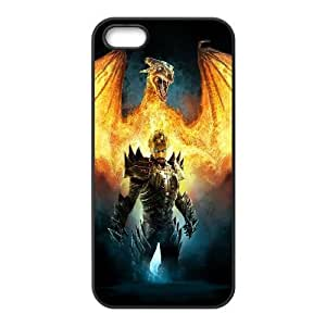 Back Skin Case Shell iPhone 5, 5S Cell Phone Case Black drakony igry ogon Cofho Pattern Hard Case Cover