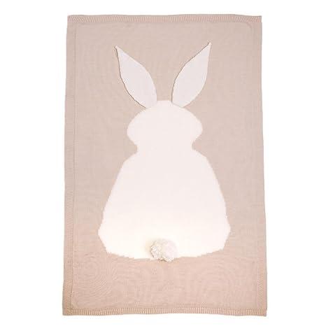 Manta para bebé, manta de conejo Huhua Kids para tejer ...