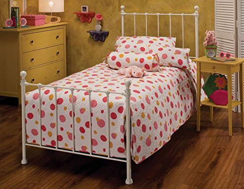 Hillsdale Furniture 1222BTW Molly Bed Set, Twin, White