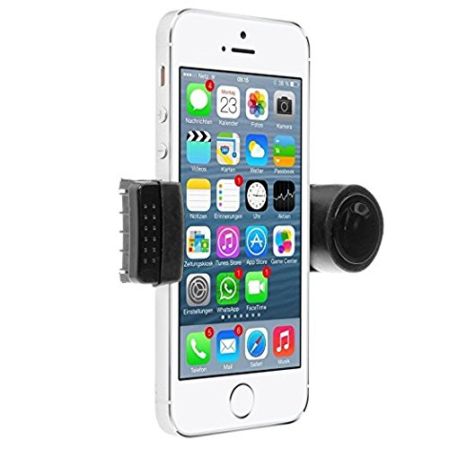 Trineybell Portable Adjustable Car Air Vent Mount Holder 3.5 - 6.3 for Mobile Cell Phone iPhone 3 4 4S 5 5S 5C Samsung Galaxy Nokia HTC BlackBerry Choose Color (Black)