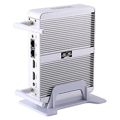 Fanless Desktop Computer Mini PC Intel Quad Core N3150 2 LAN 2 HDMI B5